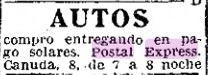 Barcelona-Postal-Express-advertisement- LAVANGUARDIA-01-Briefmarke-Stamp-Sello-Timbro–francobollo-Timbre-Frimærke-Postzegel-Známky-Poštneznamke-Znaczki