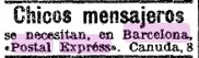 Barcelona-Postal-Express-advertisement- LAVANGUARDIA-04-Briefmarke-Stamp-Sello-Timbro–francobollo-Timbre-Frimærke-Postzegel-Známky-Poštneznamke-Znaczki