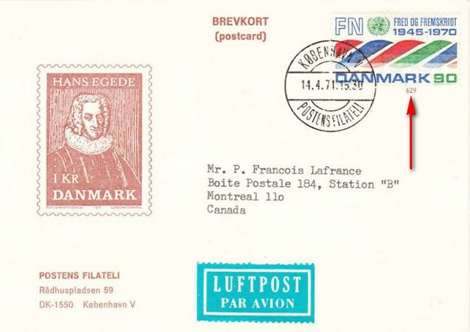 Postal-Stationeries-Danish-Postman-Porto-Betalt-foreign-air-mail-card-Denmark-stationery-postal-card-bicycle