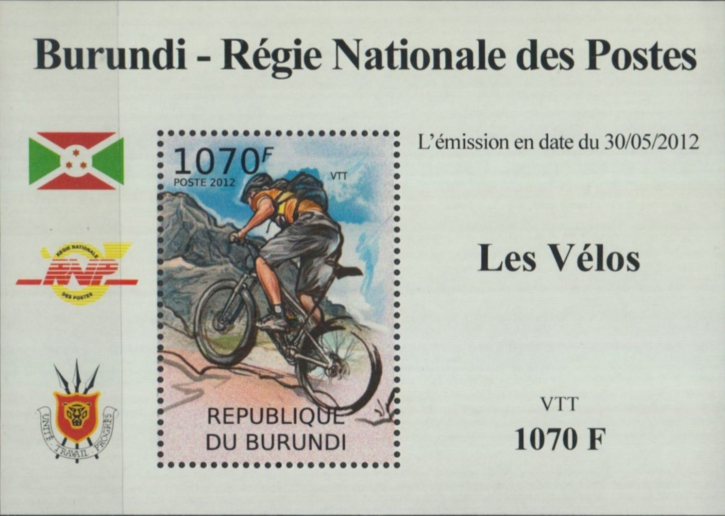 Stamperija-Burundi-stamp-bicycle-philately-fahrrad-briefmarke-velo-timbre-RE22373