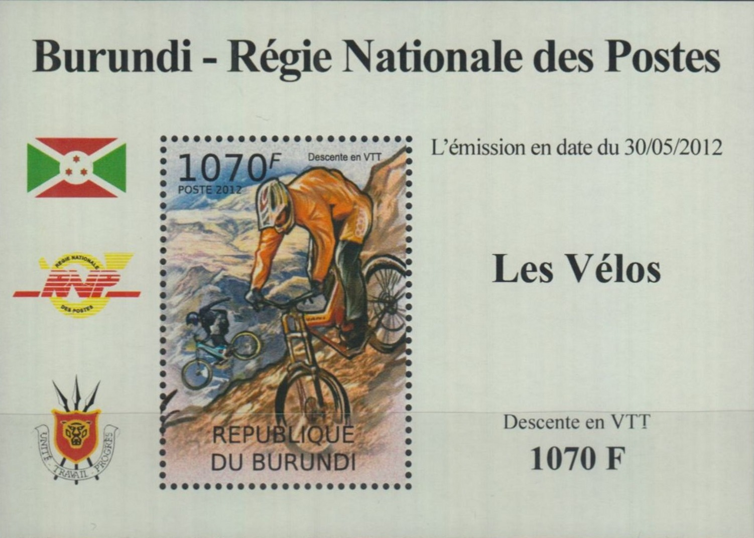 Stamperija-Burundi-stamp-bicycle-philately-fahrrad-briefmarke-velo-timbre-RE22381