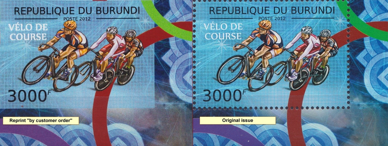 Stamperija-Burundi-stamp-bicycle-philately-fahrrad-briefmarke-velo-timbre-comperation-reprint-original