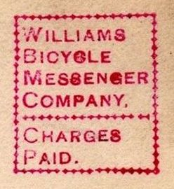 Williams-Bicycle-Messenger-Company-Louisville-Kentucky-1889-velo-Fahrrad-charges-paid-RE21048-stamp