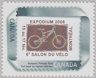 Links-6e-Salon-Velo-ExpodiumMontreal-Canada-Philatelie-Cycliste-Radsport-bicycle-stamp-velo-timbre-Fahrrad-Briefmarke-Philatelie