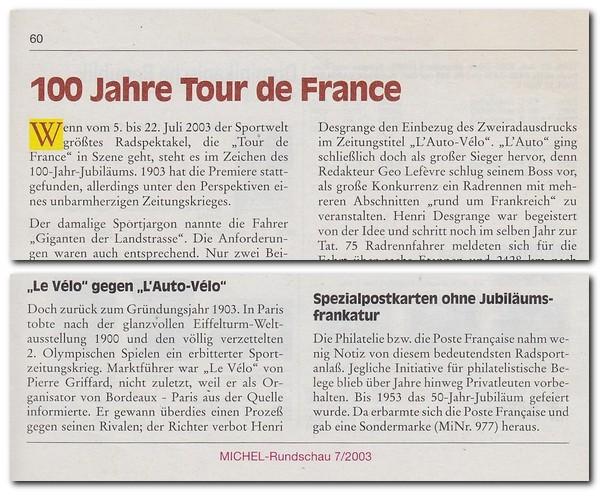 Cover of 100 Jahre Tour de France